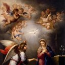 'The Annunciation', Bartolomé Esteban Murillo, 1655.