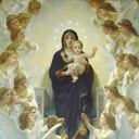 'The Queen of the Angels', William-Adolphe Bouguereau, 1900.