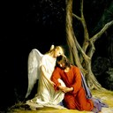 'Christ at the Garden of Gethsemane, Carl Heinrich Bloch, 1873.